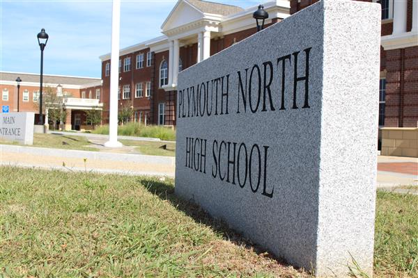 Plymouth North High School Welcome Sign