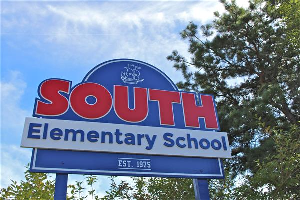 South Elementary School Welcome Sign