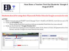 Aspen and Students' Google Account Information