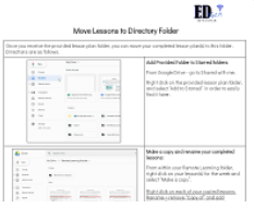 Upload your Lesson Plan to Directory Folder