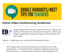 Conferencing Guidelines for Teachers