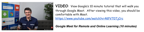 Google Meet Video